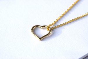 Gouden hanger hart oud goud