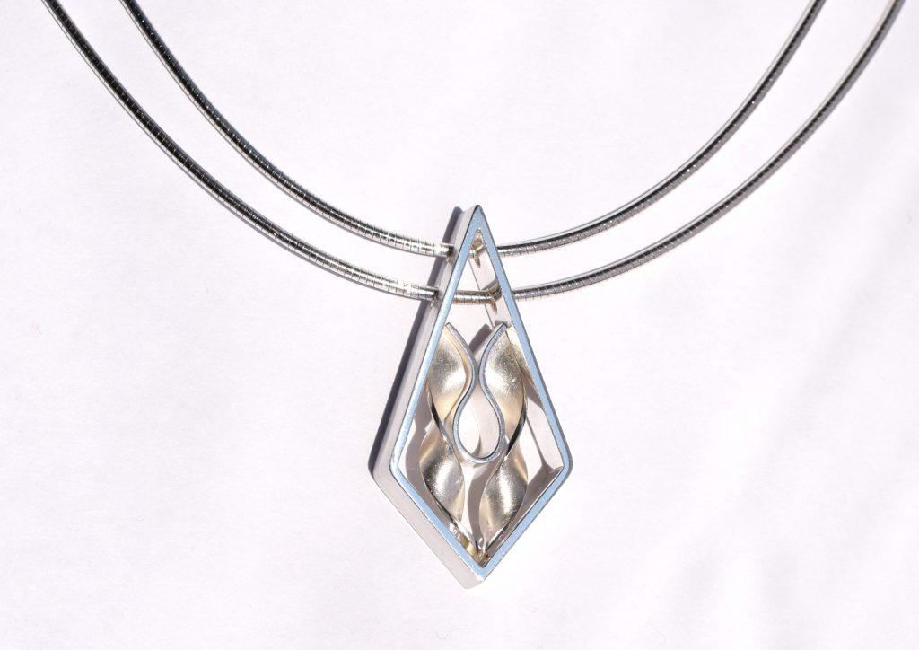 Argentium zilveren hanger maatwerk door Teuns Design Wijchen