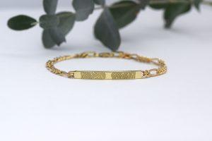 armband geel goud vingerafdruk Teuns Design goudsmid Wijchen