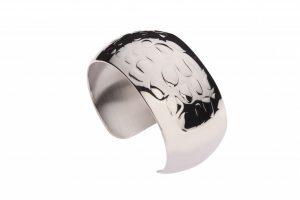 Dierenprint armband zilver slangenprint Teuns Design goudsmid Wijchen